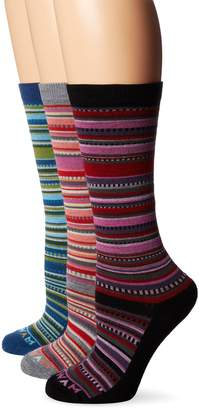 Wigwam Women's Miley Merino Wool Casual Crew Boot Sock 3-Pack