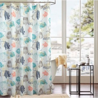 RT Designers Collection Classic Sea Life 70 x 72 in. Printed Shower Curtain