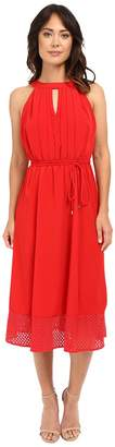 Christin Michaels Veronica Lace Hem Midi Dress Women's Dress
