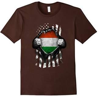 Hungarian American Flag T Shirt. Hungary National Flag Shirt
