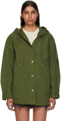 Alexander Wang Green Pajama Utility Hooded Jacket