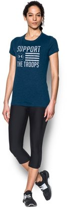 Under Armour Women's UA Charged Cotton® Tri-Blend Support Troops T-Shirt