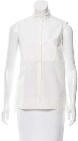 Balenciaga Balenciaga Sleeveless Button-Up Top