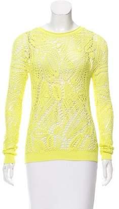 Ralph Lauren Black Label Crochet Knit Long Sleeve Top w/ Tags