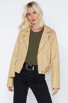 Nasty Gal Faux Leather Biker Jacket