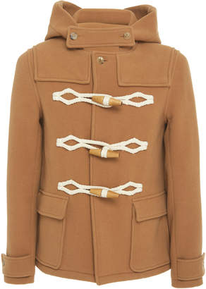 J.W.Anderson Toggle-Embellished Wool Hooded Coat