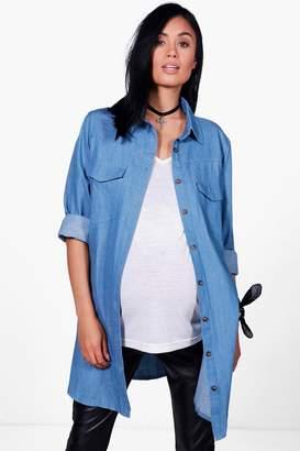 boohoo Maternity Laila Denim Shirt