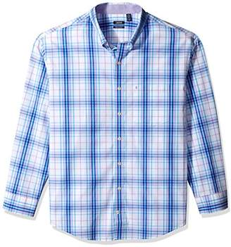 Izod Men's Men's Premium Performance Natural Stretch Check Long Sleeve Shirt (Big & Tall and Tall Slim)