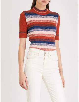 Free People Striped-pattern knitted jumper
