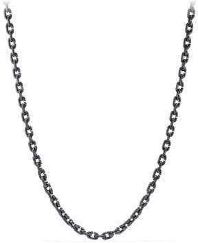 David Yurman Davidyurman Chain Link Narrow Necklace With Black Titanium
