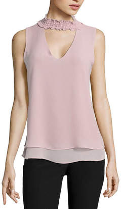 Hollywould Mock Neck Top-Juniors