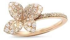 Pasquale Bruni 18K Rose Gold Secret Garden Four Petal Flower Pavé Diamond Ring