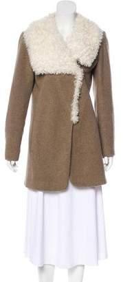 Theory Shearling Wool-Blend Coat