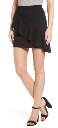 Women's Lush Asymmetrical Ruffle Skirt $35 thestylecure.com