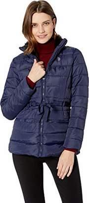 U.S. Polo Assn. Women's Puffer Jacket with Faux Fur Collar