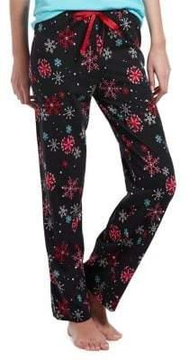 Hue Snowflake-Print Pajama Pants