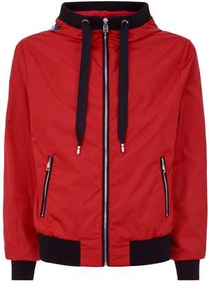 Dolce & Gabbana Logo Print Hooded Jacket