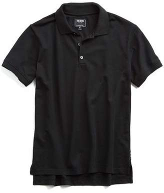 Todd Snyder Cotton Piqué Polo in Black