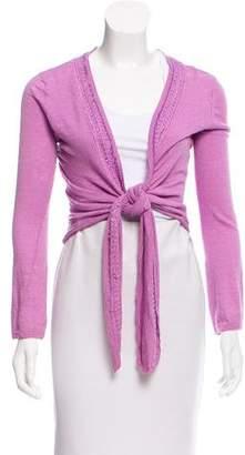 Calypso Linen Embellished Cardigan