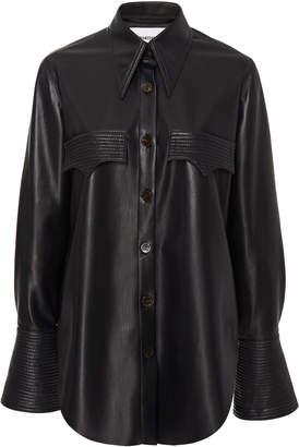 Nanushka Elpi Button-Front Blouse Size: S