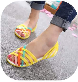 bfdc4ab7e456 Marlow Willie Candy Color Women Sandals Croc Jelly Shoes Summer Flat Sandals  Mixed Colors Ladies Sandals
