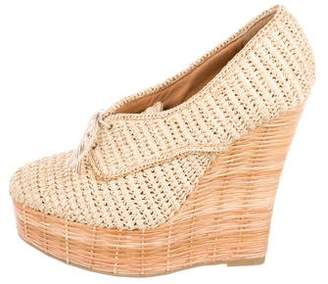Burberry Raffia platform Wedges