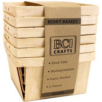 BCI Crafts Berry Basket 6/Pkg-Wood