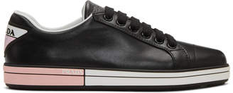Prada Black Leather Sneakers