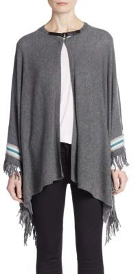 Fringed Cashmere Poncho Wrap $498 thestylecure.com