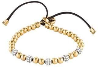 Michael Kors Pavé Crystal & Leather Beaded Bracelet
