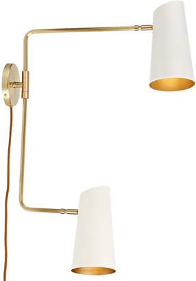 Rejuvenation Cypress Double Swing Arm Sconce Plug-In