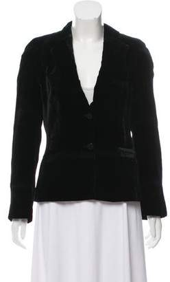 Armani Collezioni Structured Velvet Blazer