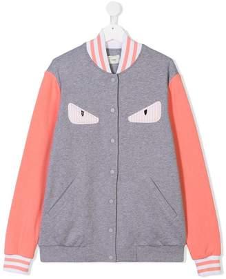 Fendi TEEN appliqué bomber jacket