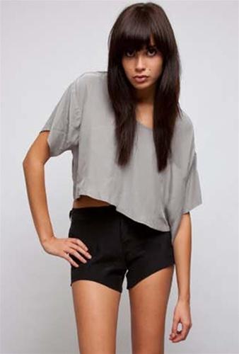 Donna Mizani Zip Sleeve Crop Top -