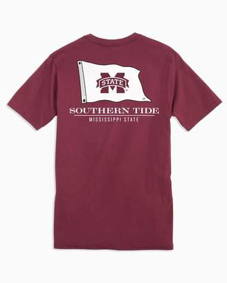 Southern Tide Gameday Nautical Flags T-shirt - Mississippi State University