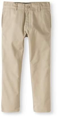 Cherokee Boys School Uniform Twill Modern Fit Pants with Adjustable Waist