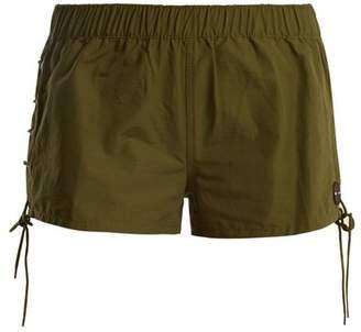 The Upside Fiesta Cotton Blend Shorts - Womens - Khaki