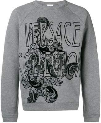 Versace crew neck logo jumper