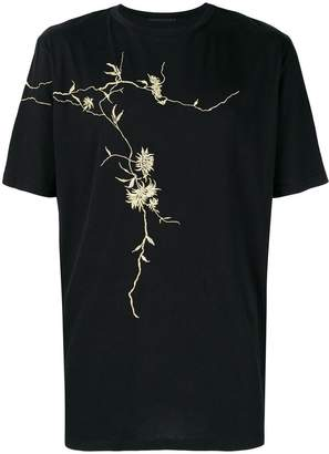 Haider Ackermann gold embroidered T-shirt