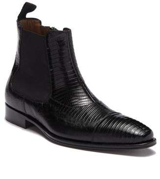 Mezlan Tall Genuine Lizard Skin Boot