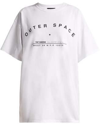 Raf Simons Outer Space Print Cotton T Shirt - Womens - White