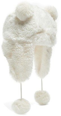 Girl's Tucker + Tate 'Bear' Faux Fur Trapper Hat - White $18 thestylecure.com