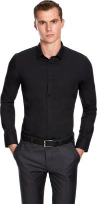 yd. BLACK NON IRON DRESS SHIRT