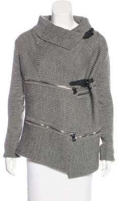 Barbara Bui Zip-Accented Wool Jacket