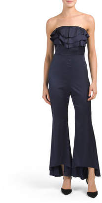 Strapless Ruffle Front Jumpsuit