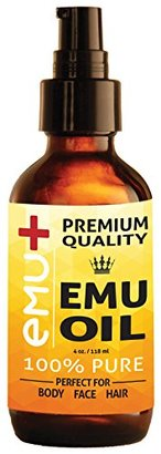 "Premium Quality Emu Oil for Hair Growth, Grade ""A"" Australian Emu Oil for Face, for Body, 100% Pure for Scars, for Acne and Even for Pain! - Amazing Natural Remedy - Nourishes Your Thirsty Skin. 4 Oz. $44.95 thestylecure.com"