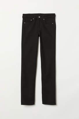 H&M Straight Regular Jeans - Black