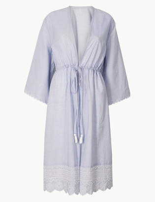 68320075fa Pixi M S CollectionMarks and Spencer Pure Cotton Wrap Long Dressing gown