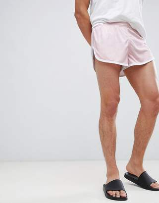 SikSilk shadow silk sprinter shorts in pink
