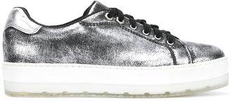 Diesel metallic platform sneakers $168.34 thestylecure.com